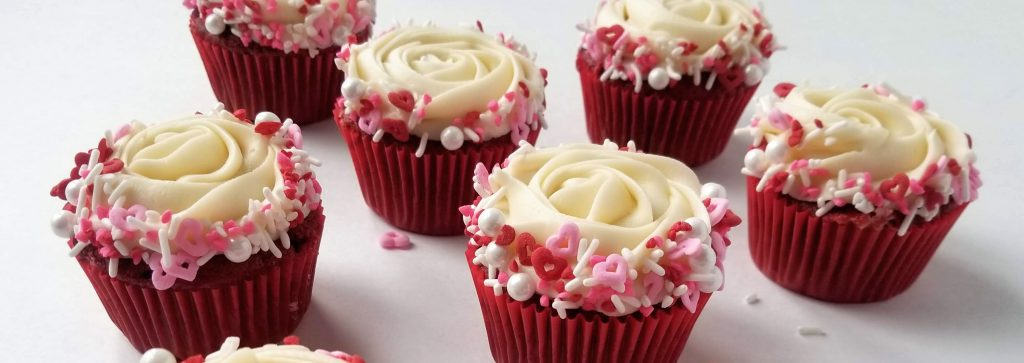 Valentines Inspired Fluffy Cream Cheese Frosted Red Velvet Cupcakes