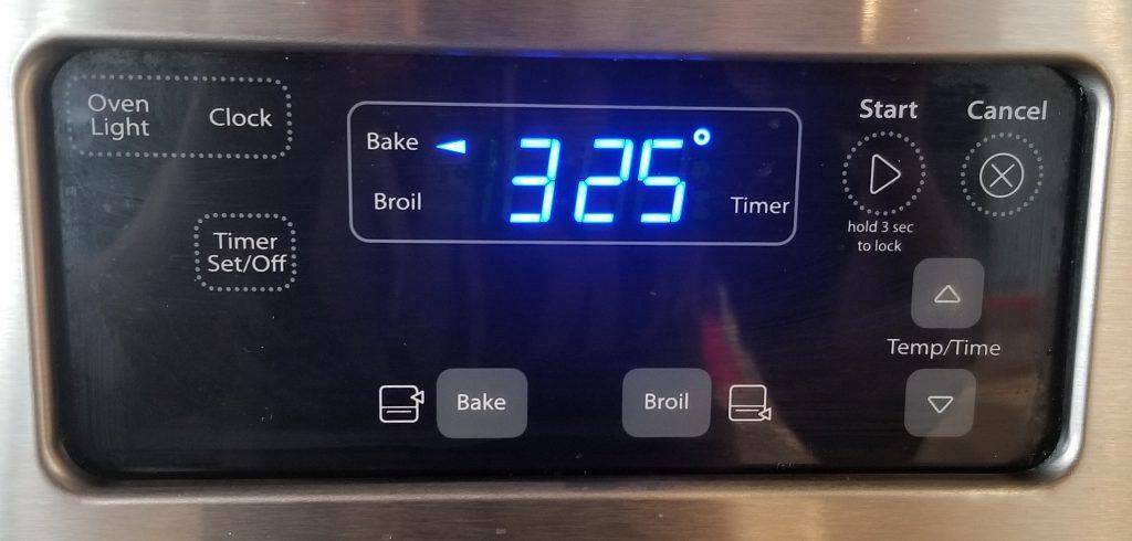 Oven Bake Temperature