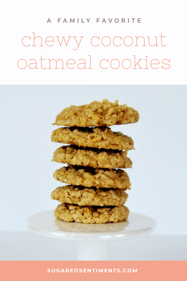 Crunchy on the outside, and chewy on the inside. These Chewy Coconut Oatmeal Cookies remind you of home.