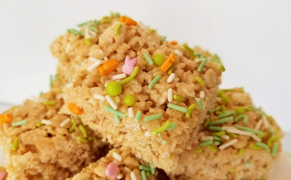 Close up of Easter Rice Crispy Treat