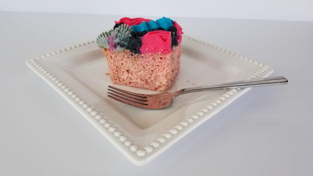 Slice of Sheet cake