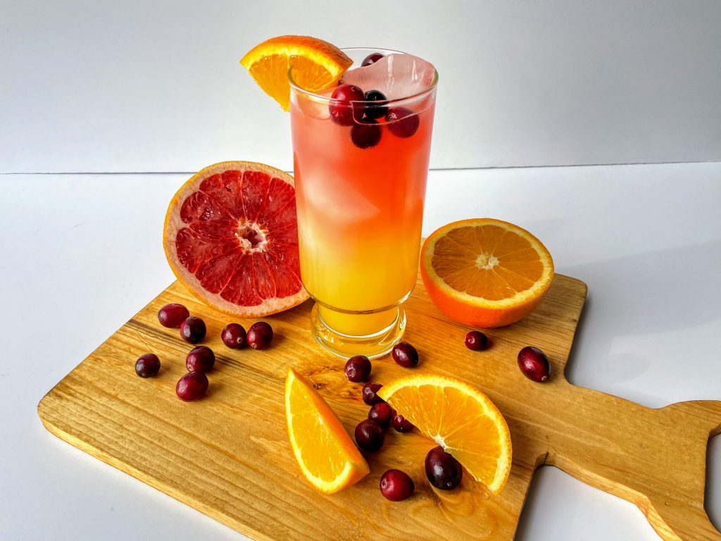 Low Calorie Cranberry Citrus Mocktail