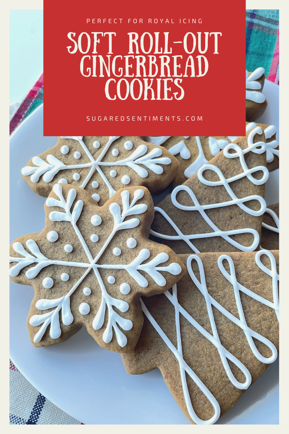 Soft, flavorful Gingerbread Cookies with minimal spread perfect for Royal Icing. A perfect recipe to add to your holiday traditions!